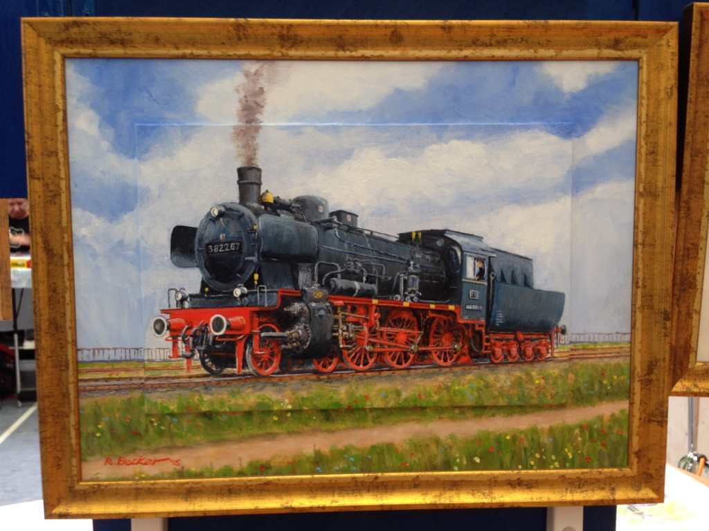 Lokomotive Eisenbahn Gemälde