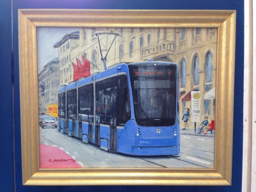 Tram Gemälde Maximilianstraße