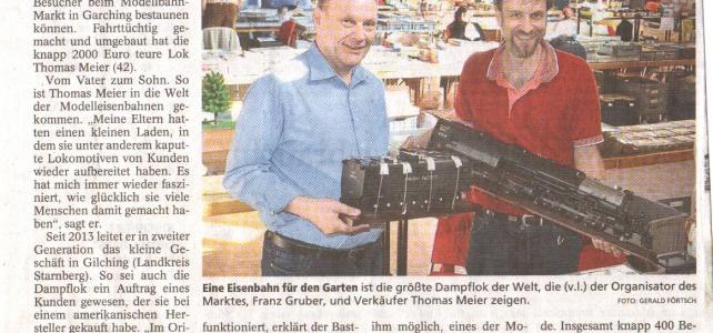 Unser Garchinger Markt präsentierte die größte Dampflok der Welt